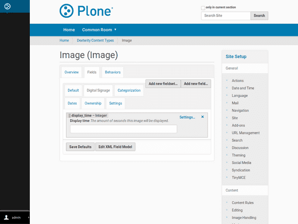 Also built-in content types like first class Image type can be enhanced with custom fields