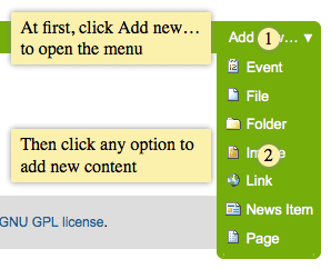 How to add new content in Plone